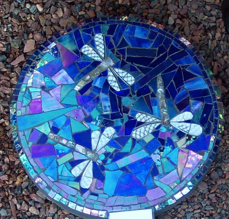 Mosaic Garden Stones: Mosaic Stepping Stone Project This September At Sunset