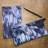 JuneHunter raven feathers pencil case w book