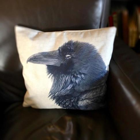 JuneHunter raven realm cushion