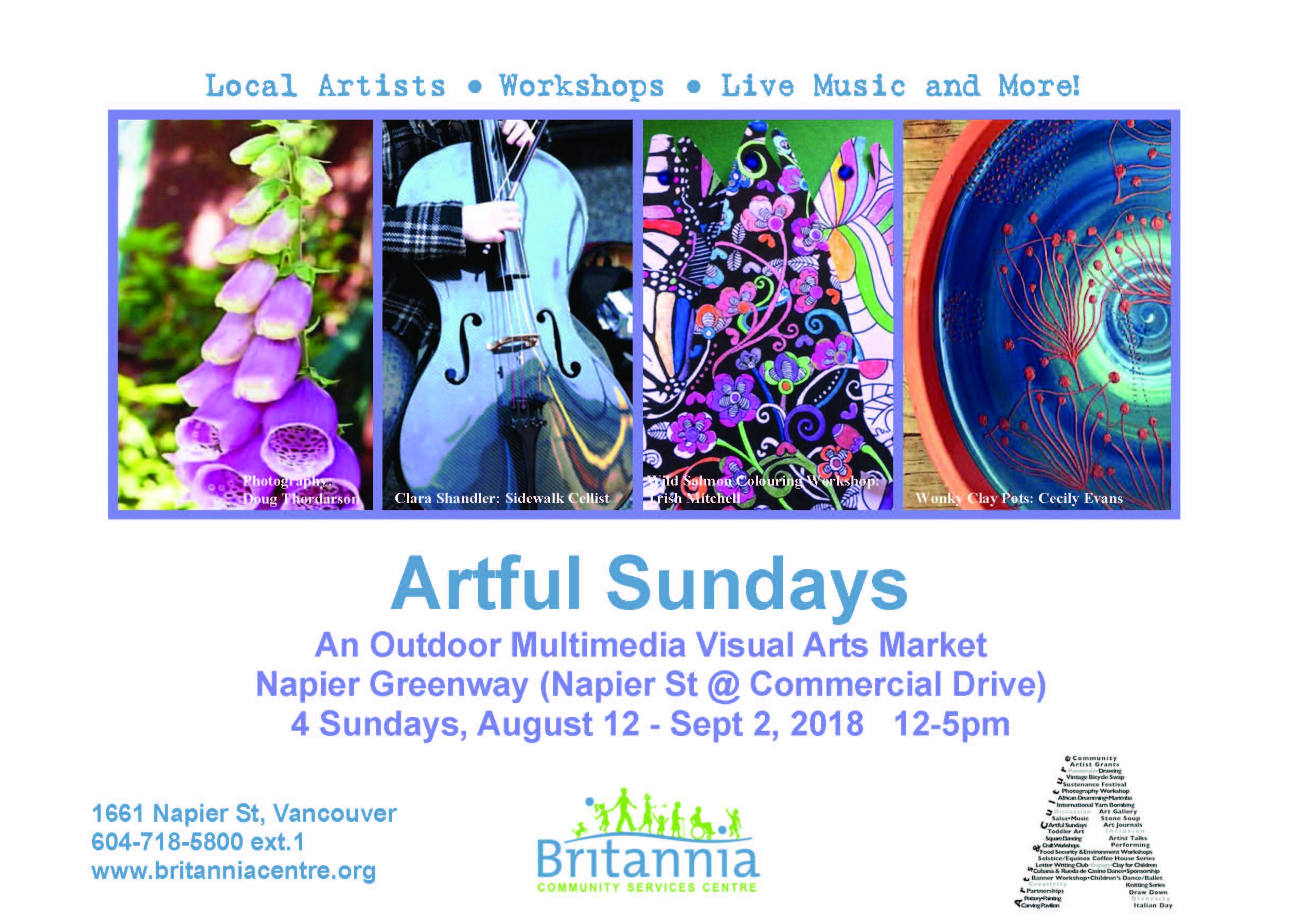 Artful Sundays 2018 Poster
